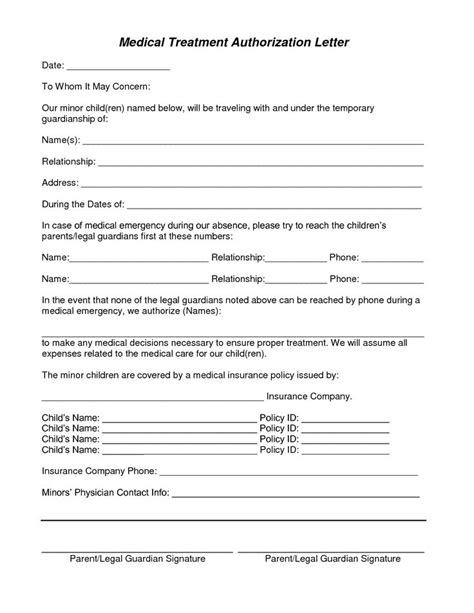 treatment authorization and consent form template the 25 best consent form children ideas on