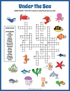 sea crossword the sea crossword puzzle marines learning and activities
