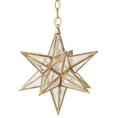 Moravian Gold Star Glass Pendant Moravian Pendant Light