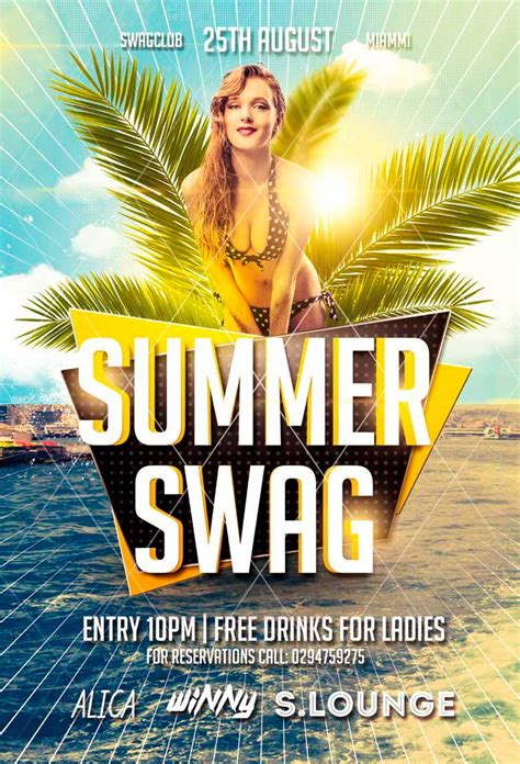 Summer Swag Party Flyer Awesomeflyer Preview Awesomeflyer Summer Flyer Templates
