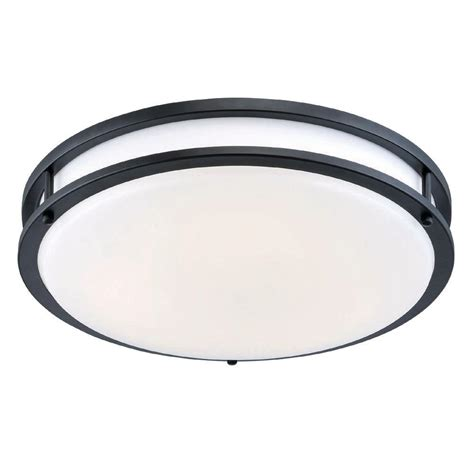 Low Profile Ceiling Light by Envirolite 12 In Rubbed Bronze White Low Profile Led