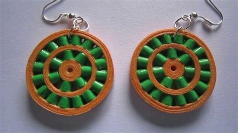 Paper Earrings Handmade Paper Jewellery - handmade jewelry paper quilling wheel earrings