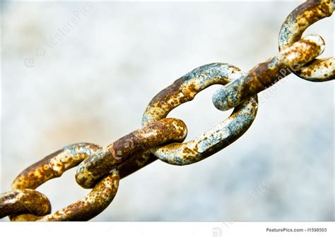 The Links In The Chain safety and security chain links stock picture