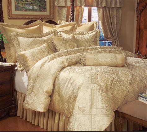gold comforter set 9 piece gold imperial comforter set