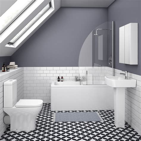 venice small 5 bathroom suite plumbing uk