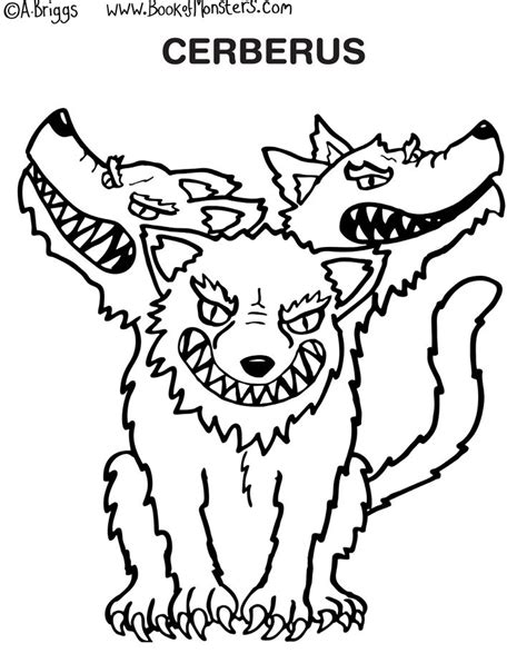 Cerberus Coloring Pages book of monsters coloring page for cerberus