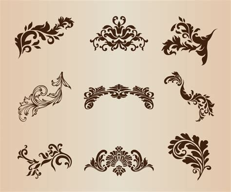decorative design elements vector decorative design element vector set free vector