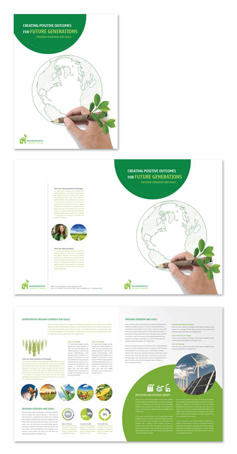 environment template environmental protection brochure template