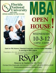 Wmu Mba Open House by Mba Open House At Fnu S Hialeah Cus