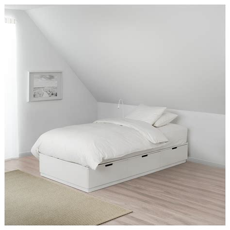 ikea nordli bed nordli bed frame with storage white 90x200 cm ikea