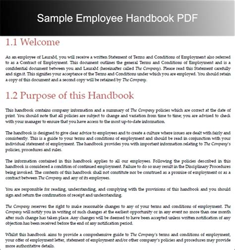 Employees Handbook Free Template by Employee Handbook Template Beepmunk