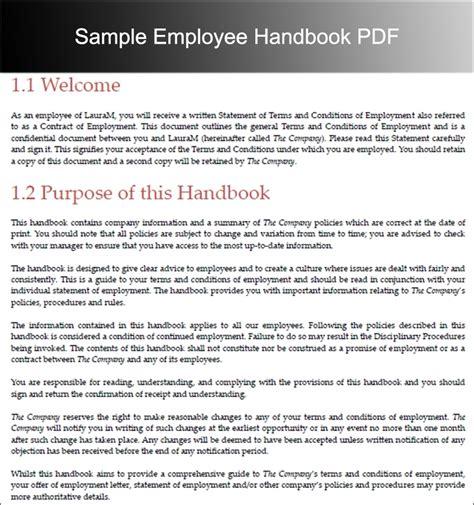 staff handbook template employee handbook template beepmunk