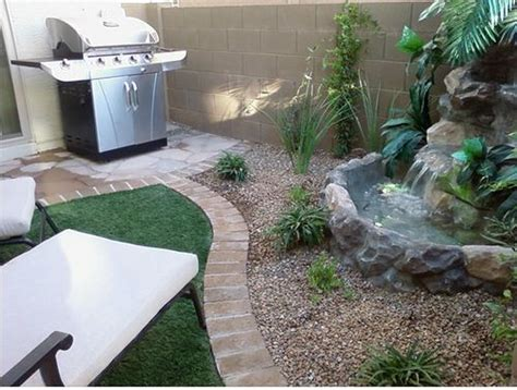 small backyard water feature ideas backyard patio ideas small patio water feature jpg 500