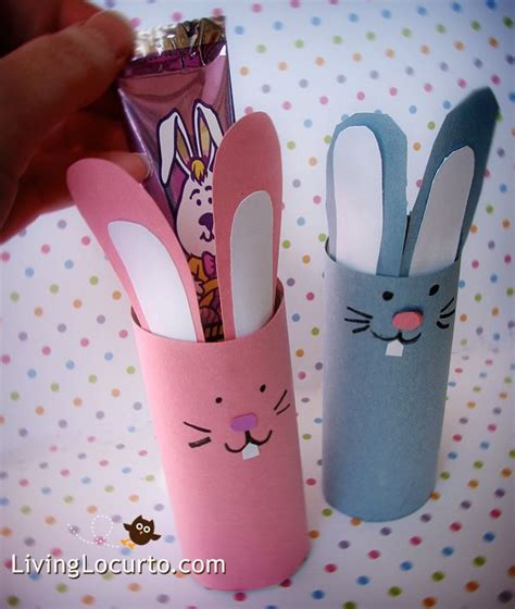 Toilet Paper Roll Bunny Craft - bunny holders using toliet or paper towel rolls for