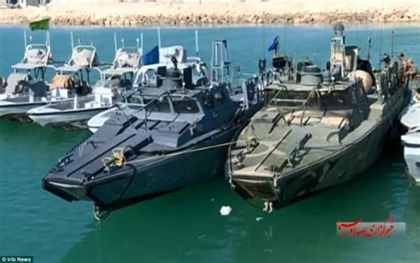 boat to america from uk video shows us sailors surrender to iranian troops in the