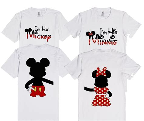 His And T Shirt Designs I M Mickey I M His Minnie Mouse With Back Design