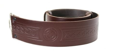 masonic embossed 100 leather quality buckle kilt belt
