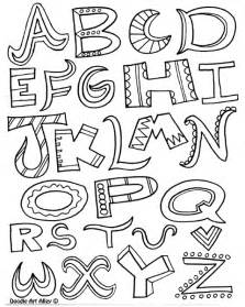 alphabet coloring books free doodle letters coloring pages