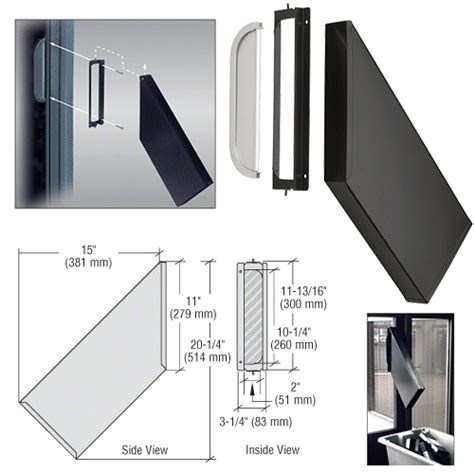 Glass Door Mail Slot Crl Satin Anodized Finish Dvd Drop Chute Bracket And Mail Slot Ebay
