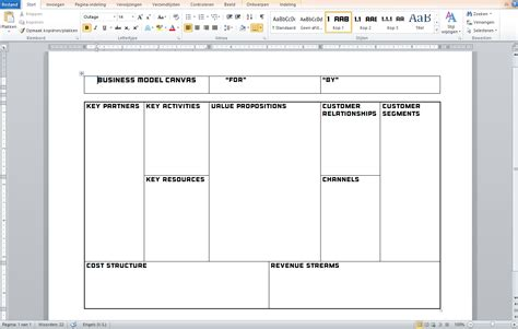 Business Model Canvas Template Pictures To Pin On Business Canvas Template Word
