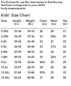 Flower Stores Childrens Measurments Body Measurements And Size Charts Infant To Age 6 Tutus And Flowers