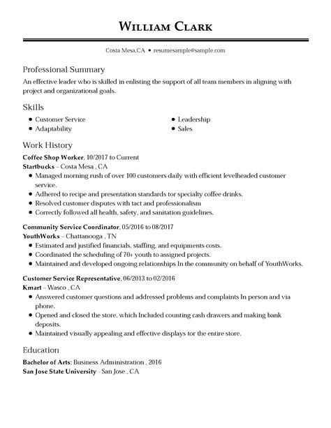 resume for a customer service representative susan ireland resumes