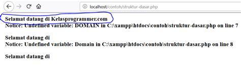 syntax dasar php belajar struktur php kelas programmer