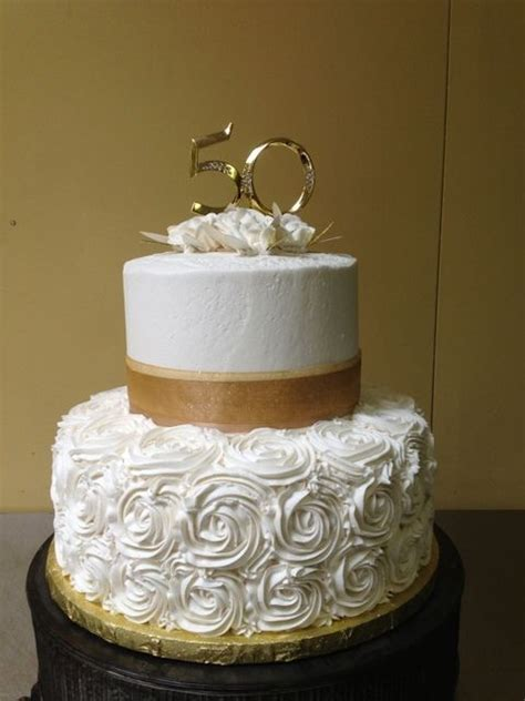 50th Wedding Anniversary Cake Made by Glaus Bakery in Salt