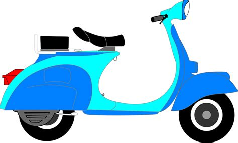 free vector graphic scooter blue two wheeler vehicle free image on pixabay 312017