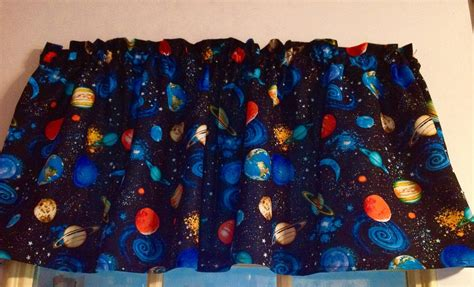 outer space curtains new outer space planets window curtain valance