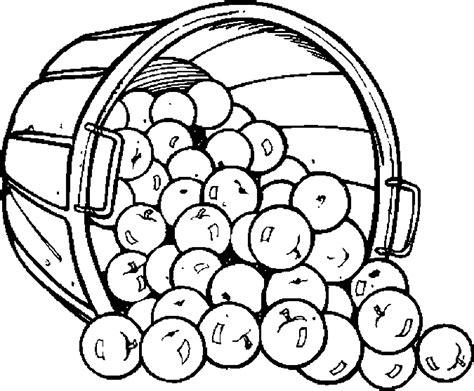 apple bushel coloring pages apples bushel 02 free printable fruits coloring pages pictures