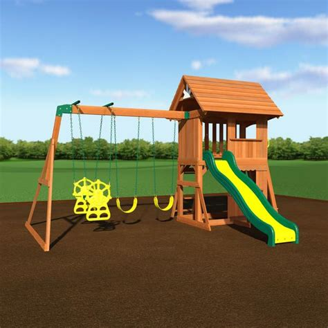 Backyard Discovery Register Alpine Wooden Swing Set With Assembly