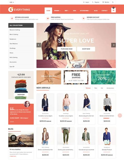 shopify themes ecommerce 20 best shopify themes with beautiful ecommerce designs