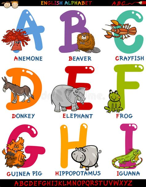 99 q to u animals collection stock images page everypixel alphabet with animals stock vector