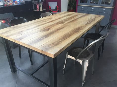 table salle a manger escamotable table manger industriel