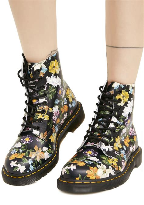 dr martens fiori dr martens pascal darcy floral backhand dolls kill