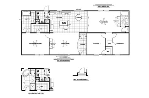 clayton wide mobile homes floor plans 28 images