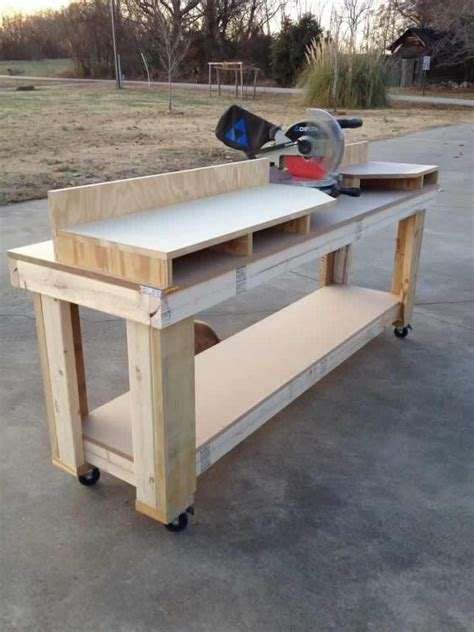 bench mitre saw miter saw workbench shanty 2 chic