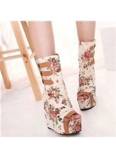 High Heels G 5059 square toe lace up front block heel martin boot martin
