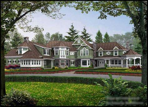 mansion home plans shingle style house plans a home design with new