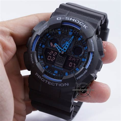 Jam Tangan G Shock Ga100 harga sarap jam tangan g shock ga100 1a2 black blue