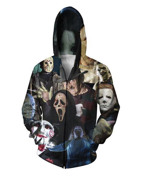 Jaket Sweater Zipper Hoodie Dead By Daylight Boy Clothing cheap cinema killers zip up hoodie michael myers