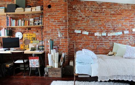 brick bedroom urban and indusrtial bedroom design ideas