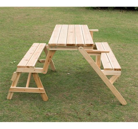 garden table and benches outsunny patio 2 in 1 outdoor interchangeable picnic table