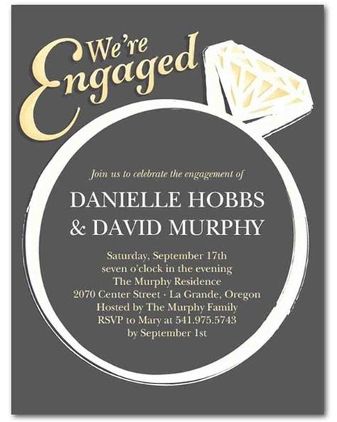 Engagement Invitations 15 engagement invitations martha stewart weddings