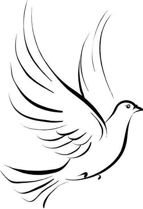 tribal dove tattoos tribal outline peace dove design