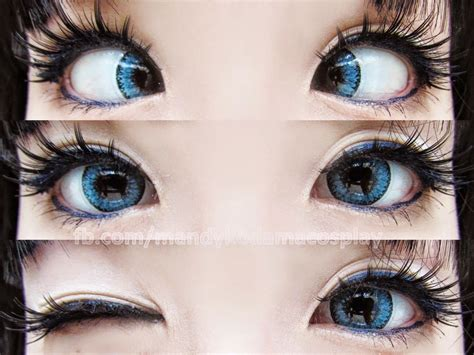 eos fay blue circle lenses  translucent blue circle