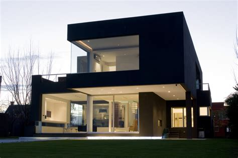 home design of architecture the black house by andres remy arquitectos architecture