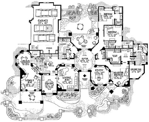 adobe style home plans adobe southwestern style house plan 3 beds 3 50 baths 3959 sq ft plan 72 482
