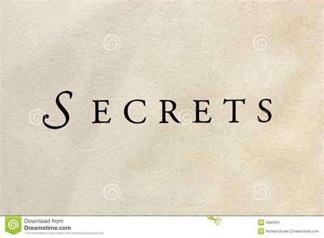 The Secrets To by The Word Secrets Stock Image Image Of Paper Background